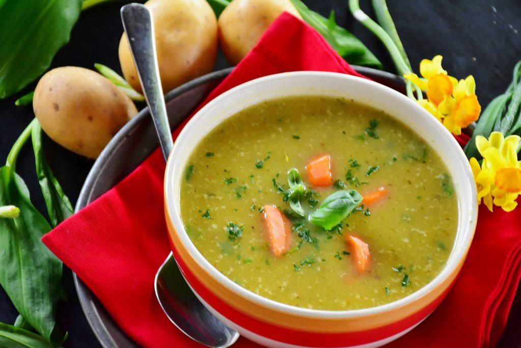 Tasty vegan potato soup